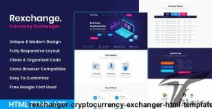 RexChanger - CryptoCurrency Exchanger HTML Template By idealbrothers