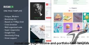 Rismer - One Page Resume and Portfolio HTML Template By sajibsrs