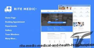 Rite Medic - Medical and Health HTML Template By ritetags