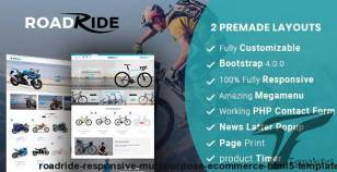 Roadride- Responsive Multipurpose E-Commerce HTML5 Template By aaryaweb