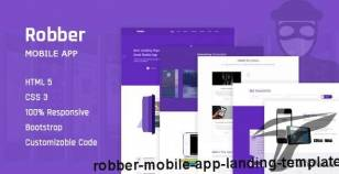 Robber Mobile App Landing Template By creative_themes