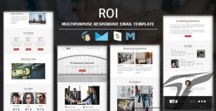 Roi - Multipurpose Responsive Email Template With Online Stampready Builder & Mailchimp Editor By guiwidgets