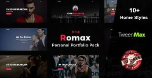 Romax - Personal Portfolio Pack By integrothemes