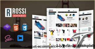 Rossi - Sport eCommerce Bootstrap 4 Template By hastech