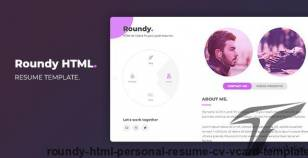 Roundy HTML - Personal Resume / CV / Vcard Template By iltaen