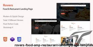 Rovers - Food & Restaurant Landing Page Template By gaintco