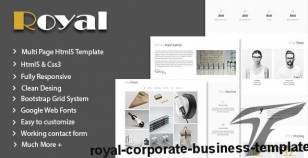 Royal - Corporate Business Template By lovely_theme