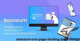 Saaseum - One Page Landing Page Design By premiumthemeltd