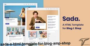 Sada - A HTML Template For Blog & Shop By energeticthemes