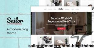 Sailor - A Modern HTML Blog Theme