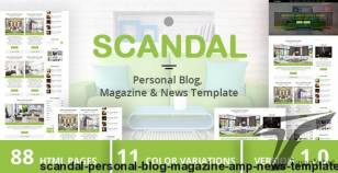 SCANDAL - Personal Blog, Magazine & News Template By duezathemes