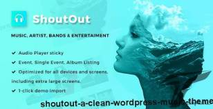 ShoutOut - A Clean WordPress Music Theme By gretathemes