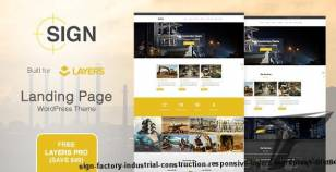 Sign - Factory | Industrial | Construction Responsive Layers WordPress Theme By palabari
