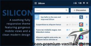 Silicon - Premium Vanilla 2 Theme By jspautsch