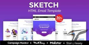 Sketch - Multipurpose Responsive Email Template 30+ Modules -  Mailster & Mailchimp By aumfusion