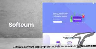 Softeum - Software, App & Product Showcase Landing HTML Template By thememom