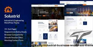 Solustrid - Factory & Industrial Business WordPress Theme By smartdatasoft