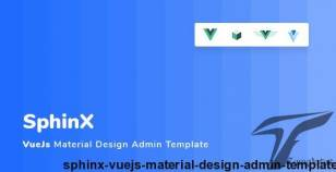 Sphinx - Vuejs Material Design Admin Template By spantags