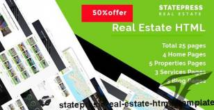 StatePress || - Real Estate HTML5 Template By periodicitems