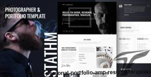 Stathm - Personal Portfolio & Resume Template By bright-themes