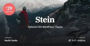 Stein - Tailwind CSS WordPress Theme for Bloggers By reefki