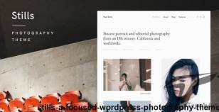 Stills — A Focused WordPress Photography Theme By mauerthemes