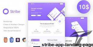 Stribe App Landing Page By design_grapahma