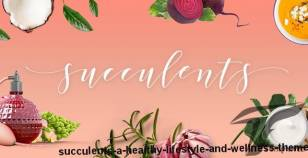 Succulents - A Healthy Lifestyle and Wellness Theme