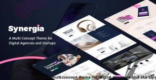 Synergia - A Multi-Concept Theme for Digital Agencies and Startups
