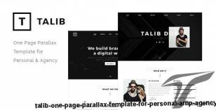 Talib - One Page Parallax Template for Personal & Agency