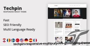 Techpin - Responsive Multipurpose Ghost Blog Theme By themeix
