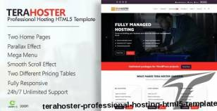 TeraHoster - Professional Hosting HTML5 Template By themekolor
