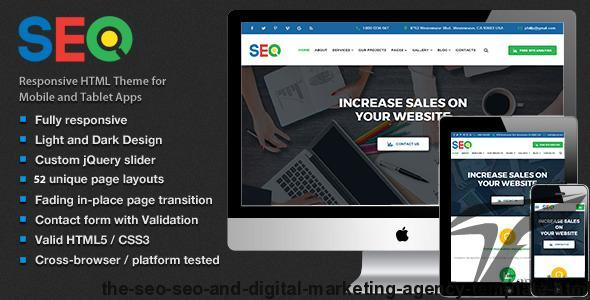 The SEO - SEO and Digital Marketing Agency Template HTML5 By themeprotop