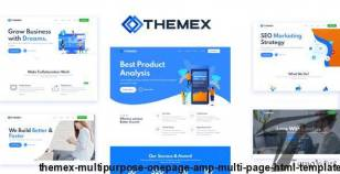 Themex Multipurpose OnePage & Multi Page HTML Template By drizvato
