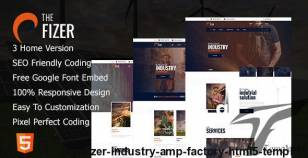 ThePfizer    Industry & Factory HTML5 Template By shifttechplus