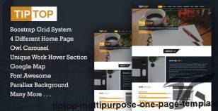 TIPTOP - Multipurpose One Page Template By trickycode