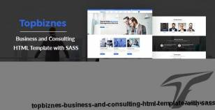 Topbiznes - Business and Consulting HTML Template with SASS By robertbiswas