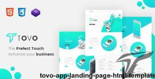 Tovo - App Landing Page HTML Template
