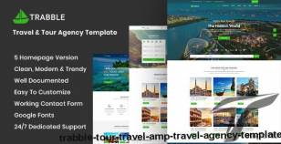 Trabble- Tour, Travel & Travel Agency Template By syltheme