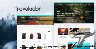 Travelador - Blog Travel & Agency Joomla Template with Page Builder By payothemes