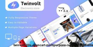 Twinvolt 3.0.X Opencart MultiPurpose Responsive Theme By winterinfotech