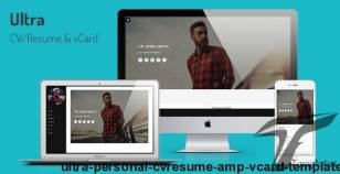 Ultra - Personal CV/Resume & vCard Template By theme_crazy