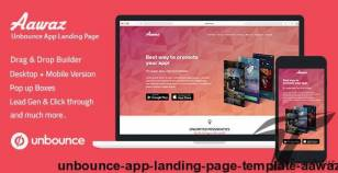 Unbounce App Landing Page Template - Aawaz By ilmosys