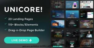 Unicore - Mobirise Builder with 20 HTML Bootstrap Landing Page Templates By electricblaze