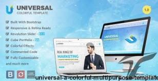 Universal - A Colorful Multipurpose Template By gj-designs