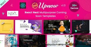Upnow | React Next Under Construction & Countdown Templates By envytheme