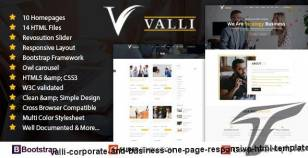 Valli - Corporate and Business One Page Responsive HTML Template By blog_designer
