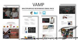 Vamp - Multipurpose Responsive Email Template With Stamp Ready Builder Access By guiwidgets