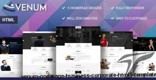 Venum - One Page Business Corporate HTML5 Template By dazzlersoft