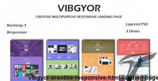 VIBGYOR - Creative Responsive HTML Landing Page By guiwidgets